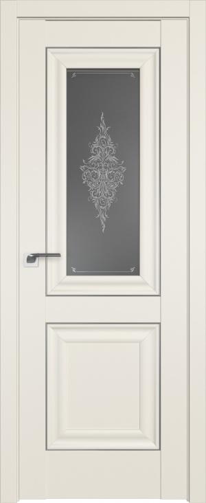 Дверь 28U магнолия молдинг серебро ст. Кристалл графит