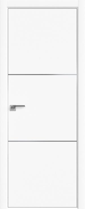 Дверь 2Е аляска матовая кромка AL вставки