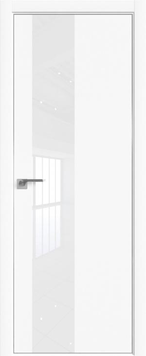 Дверь 5Е аляска матовая кромка ст. белый лак
