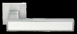 """Дверные ручки MORELLI DIY MH-48-S6 SC/W """"Sulla"""" Цвет - Матовый хром/белый"""