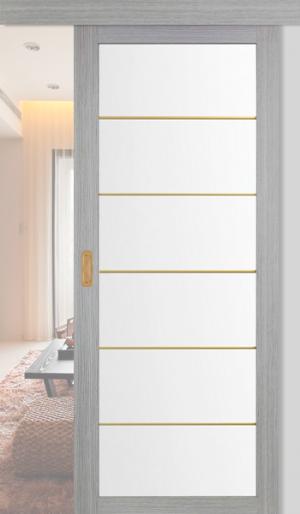Дверь раздвижная 501.2 АСС золото ст. матовое