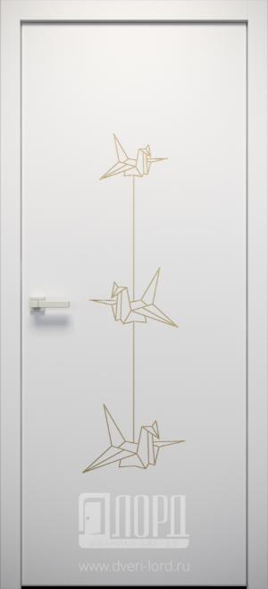 Дверь L-ORI 6 глухая с фрезеровкой патина с 1 стороны
