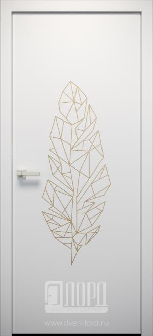 Дверь L-ORI 3 глухая с фрезеровкой патина с 1 стороны
