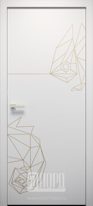 Дверь L-ORI 8 глухая с фрезеровкой патина с 1 стороны