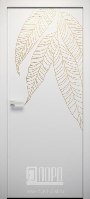Дверь L-NATURE 5 глухая с фрезеровкой патина с 1 стороны
