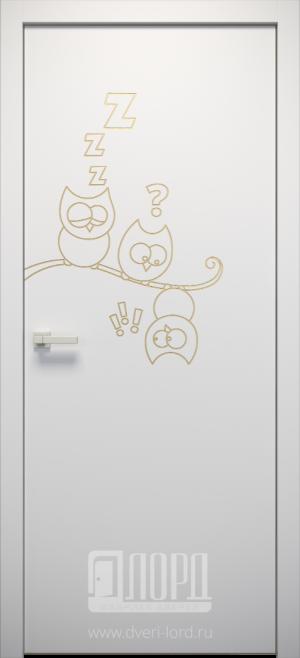 Дверь L-KIDS 3 глухая с фрезеровкой патина с 1 стороны