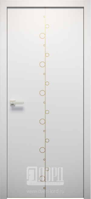 Дверь L-SPAZIO 3 глухая с фрезеровкой патина с 1 стороны