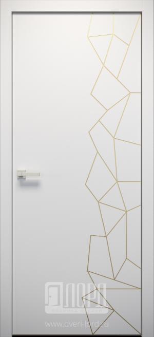 Дверь L-SPAZIO 7 глухая с фрезеровкой патина с 1 стороны