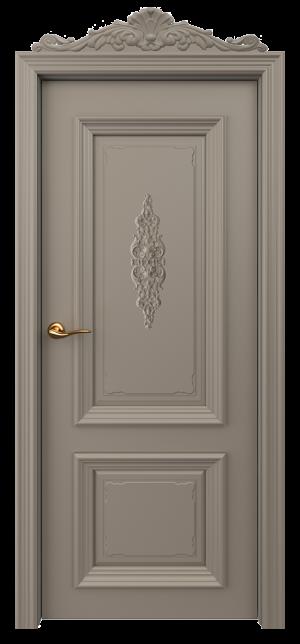 Дверь Оксфорд 3 глухая с лепниной