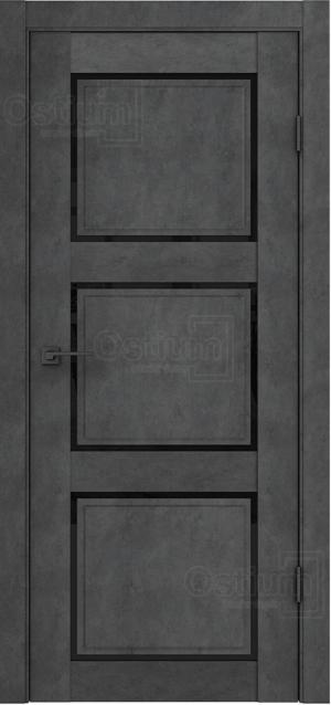 Дверь Флай 4 лофт ст. триплекс черный