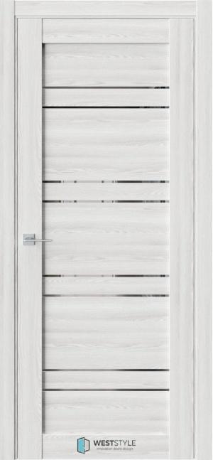 Дверь Триумф СZ7 клен айс ст. графит зеркало