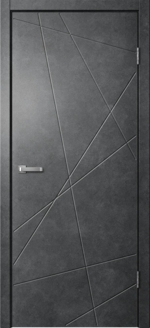 Дверь Лайн 01 бетон темный