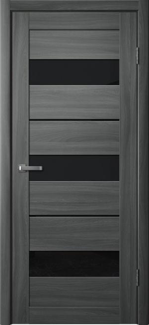 Дверь 200 ясень графит ст. черное