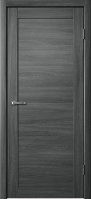 Дверь 218 ясень графит глухое