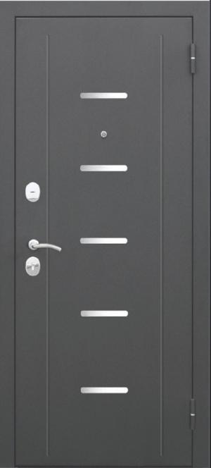Входная дверь 7,5 Гарда МУАР Царга Лиственница мокко