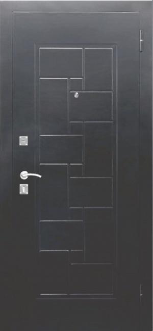 Входная дверь Доминанта Серебро Царга Дуб шале белый