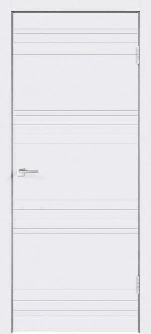 Дверь Сканди N глухая эмаль белая с зарезкой под замок Морелли WC