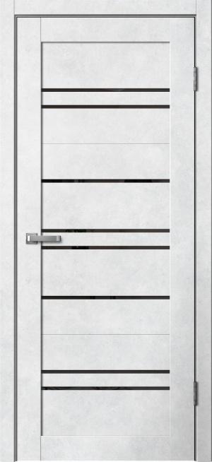 Дверь Барн 2 бетон светлый ст. черный лак