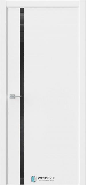 Дверь Стелла 3 белый эмалит ст. черный лак