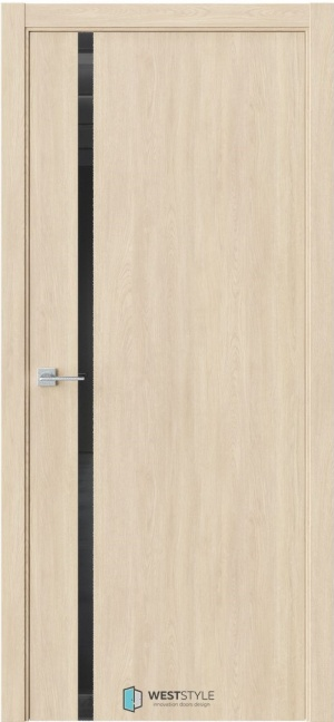 Дверь Стелла 3 сенди ст. черный лак