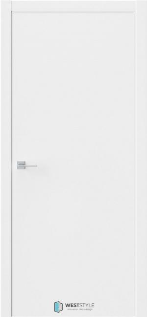 Дверь гладкая белый эмалит