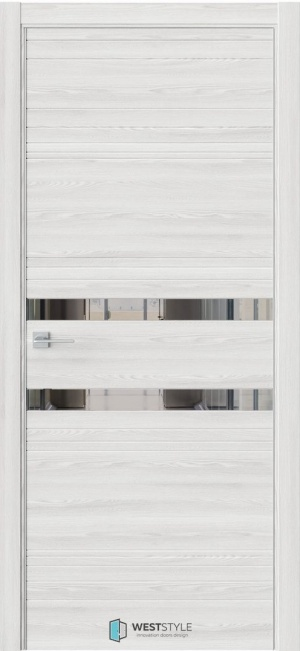 Дверь Триумф IN13 матовая кромка клен айс ст. зеркало графит