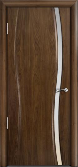Дверь Омега 1 узкое ст. белое