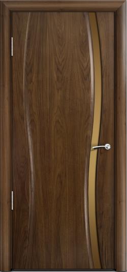 Дверь Омега 1 узкое ст. бронза