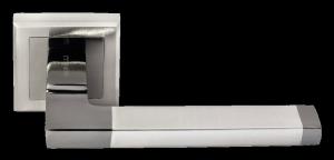 Дверная ручка MORELLI DMH-35 SN/BN-S белый никель / черный никель