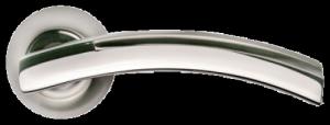 Дверная ручка MORELLI Древо жизни MH-12 SN/CP белый никель / хром