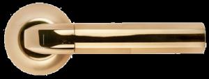 Дверная ручка MORELLI Мозаика MH-11 SG/GP матовое золото / золото