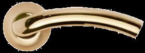 Дверная ручка MORELLI Палаццо MH-02P SG/GP матовое золото/золото