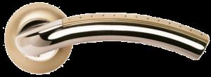 Дверная ручка MORELLI Палаццо MH-02P SN/CP белый никель/полированный хром