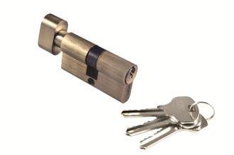 Цилиндр с поворотной ручкой 50CK AB Цвет Античная бронза