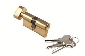Цилиндр с поворотной ручкой 50CK PG Цвет Золото