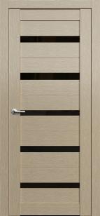 Дверь Фонсека 2 ст. черный лакобель