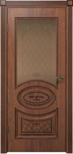 Дверь Вителия ДО черная патина ст. бронза