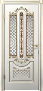 Дверь Олимпия ДО патина золото ст. матовое