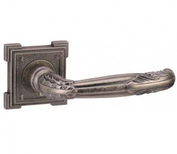 Дверная ручка ADDEN BAU FLAMINGO VQ204 состаренное серебро с подсветкой