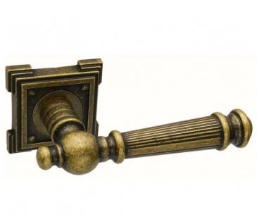 Дверная ручка ADDEN BAU CASTELLO VQ212 состаренная бронза с подсветкой