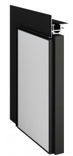 Дверь REVERSE INVISIBLE Black Edition под покраску скрытого монтажа (обратное открывание)