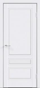 Дверь Сканди 3Р глухая эмаль белая с зарезкой под замок Морелли WC