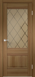Дверь ALTO 2V орех ст. Ромб бронзовое