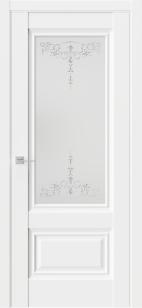 Дверь Триумф СН8 эмалит ст.матовое наливной витраж