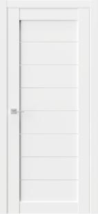 Дверь Триумф Q 48 белый эмалит ст сатин