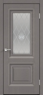 Дверь ALTO 7V  софт ст. кристалл серебро