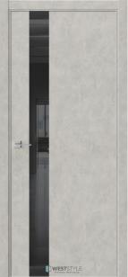Дверь Триумф IN2 алюмин. кромка бетон смоки ст.черное