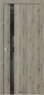 Дверь Экзотика Е10 дуб эссе ст. черный лакобель