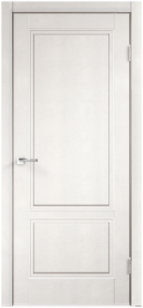 Дверь Сканди 2Р глухая эмаль белая с зарезкой под замок Морелли WC