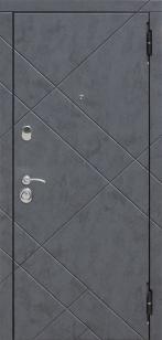 Сейф-дверь Бруклин МДФ/МДФ бетон пепельный